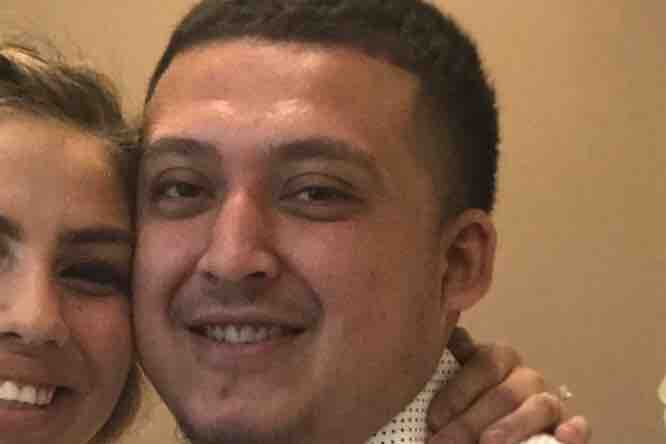 California dad, 23, killed riding in his wife's car after someone intentionally rolled a 35-pound boulder from an overpass - Christopher Lopez's chest bones and jaw were crushed by the 'missile'
